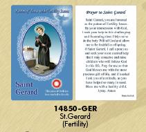 12-Pack - Healing Saints Relic Cards - Saint Gerard, Patron Saint of Fertility
