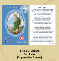 12-Pack - Healing Saints Relic Cards - Saint Jude, Patron Saint of Impossible Cases