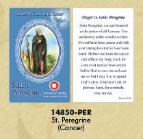 12-Pack - Healing Saints Relic Cards - Saint Peregrine, Patron Saint of Cancer