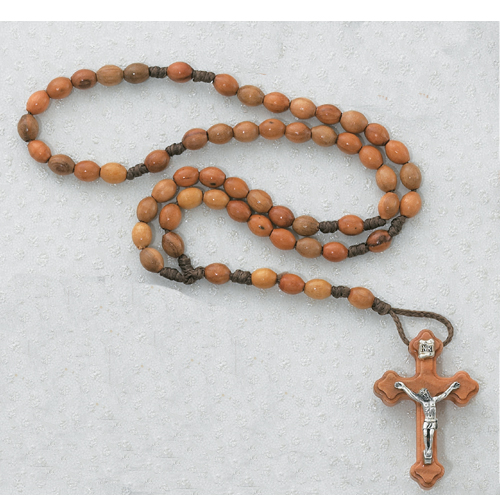 3X5MM Olive Wood Corded Rosary