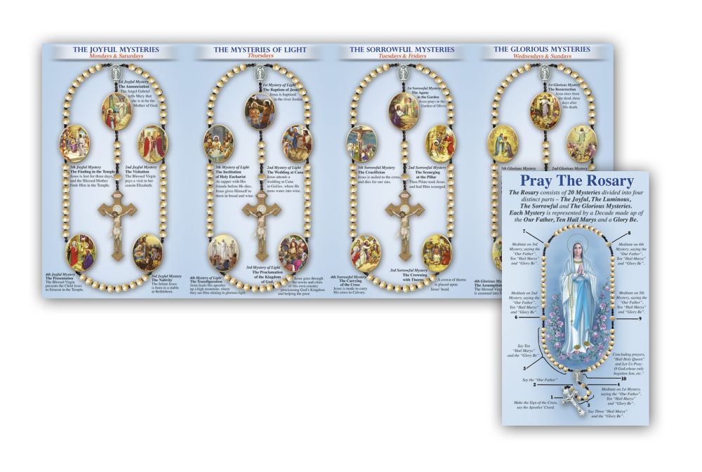 photo about How to Pray the Rosary Printable named Pray the Rosary Pamphlet