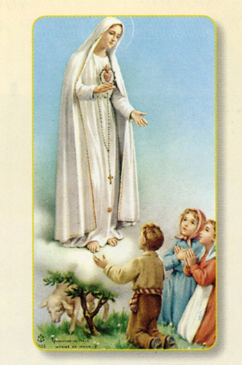 100-Pack - Our Lady Of Fatima Holy Card Holy Card
