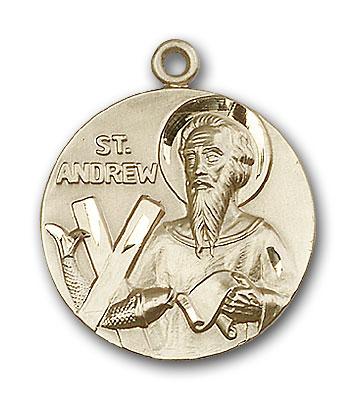 14K Gold St. Andrew Pendant - Engravable