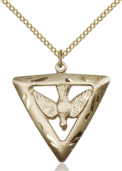 Gold-Filled Holy Spirit / Triangle Pendant