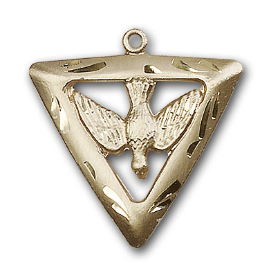 14K Gold Holy Spirit / Triangle Pendant