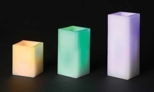3Pc St 4-8-inch LED Square Pillar