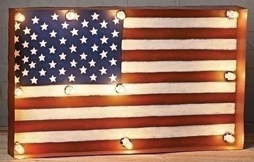 30-inch W American Flag Metal