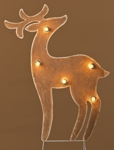 37-inch Lighted Metal Deer Yardart