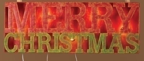 33-inch Lighted Merry Christmas Sign Stake