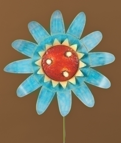 60-inch Blue Lighted Flower Stake Yard