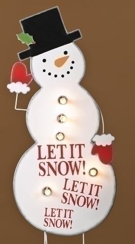 40-inch Snowman Lighted Yard Art