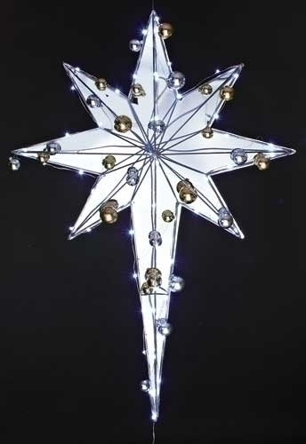 37-inch LED Star With Ornament Yard Art