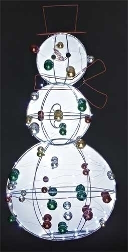 36-inch LED Snowman With Ornaments