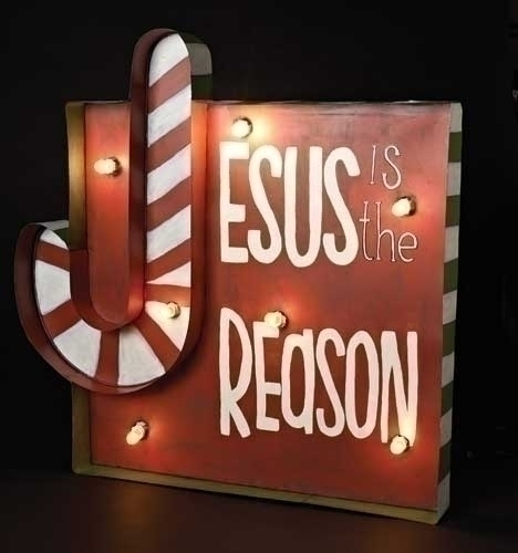 30-inch H Lighted Jesus Reason Sign