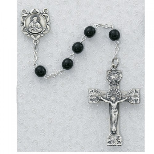 6MM Genuine Black Onyx Rosary