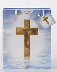 12-Pack - Large Religious Gift Bag with Gift Tissue