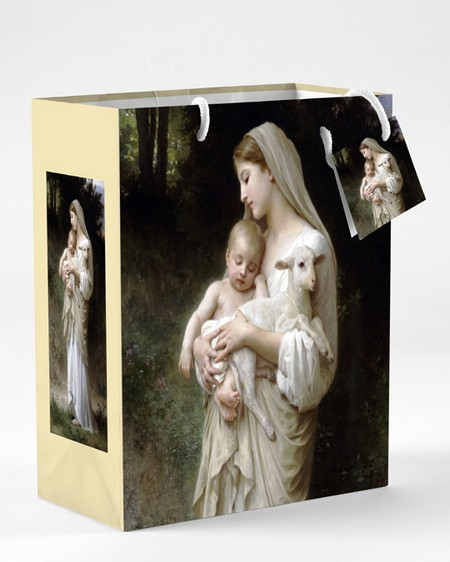 Large Mother and Child Bouguereau L'Innocence Gift Bag