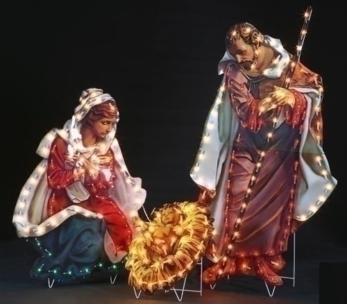 48-inch H 3Pc Holy Family Yard Art