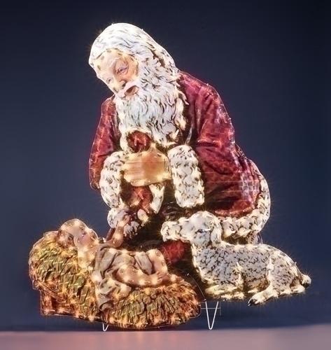 48-inch Kneeling Santa Yard Art