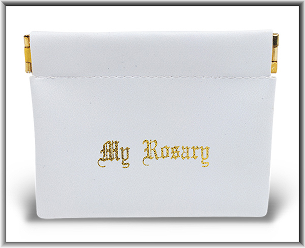 White Snap Rosary Case 10-Pack