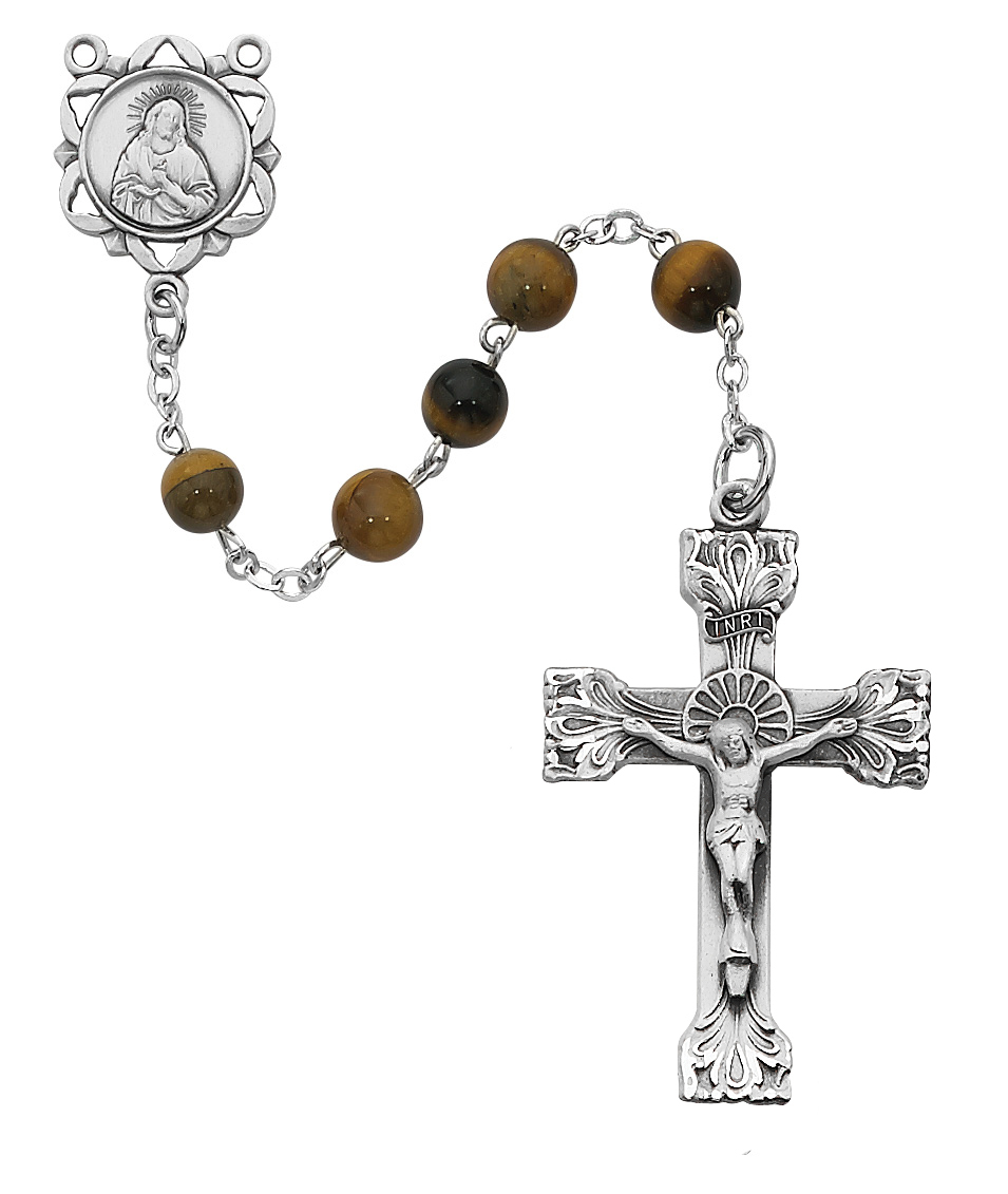 6MM Genuine Tiger Eye Rosary
