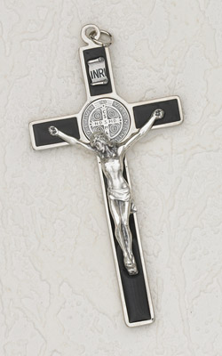 45 Inch Black Saint Benedict Hanging Wall Cross