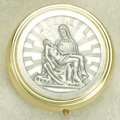 Silver Plated Pieta Pyx