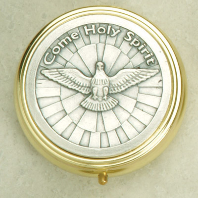 Silver Plated Pyx with Holy Spirit