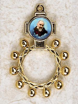 12-Pack - Padre Pio Finger Rosary