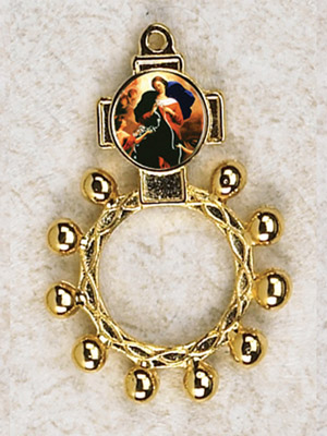 12-Pack - Lady of the Knots Gold Finger Rosary
