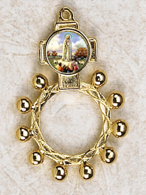 12-Pack - Lady of Fatima Gold Finger Rosary
