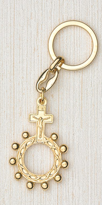 12-Pack - Gold Finger Rosary Keyring