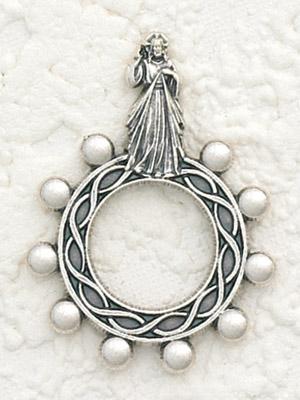 12-Pack - Divine Mercy Silhouette Finger Rosary