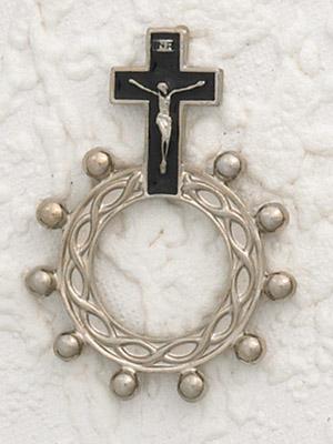 12-Pack - Black Enamel  Finger Rosary