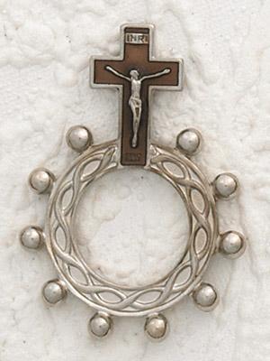 12-Pack - Brown Enamel  Finger Rosary