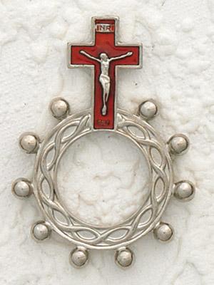 12-Pack - Red Enamel Finger Rosary