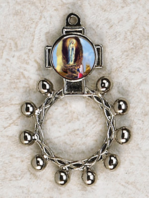 12-Pack - Lady of Lourdes Finger Rosary