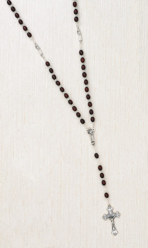 Silhouette Rosary with Our Father Beads of Padre Pio and Centerpiece Boxed