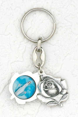 6-Pack - Lady of Grace Sliding Petal Key Ring