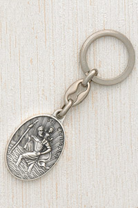 6-Pack - Saint Christopher Key Ring