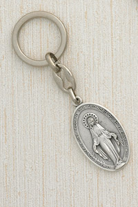 6-Pack - Miraculous Medal 2 inch  Keyring