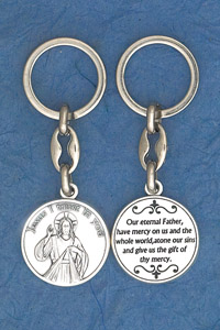 6-Pack - Divine Mercy Prayer Coin Keyring