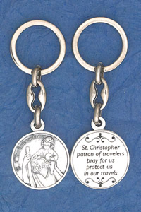 6-Pack - St Christopher Prayer Coin Keyring