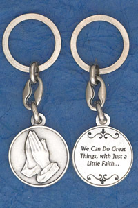 6-Pack - A Little Faith'  Keyring Prayer Coin Keyring
