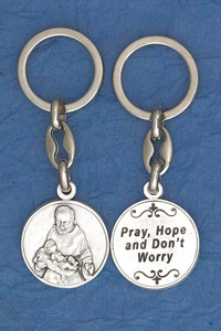 6-Pack - Padre Pio Coin Keyring