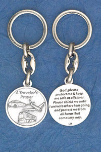 6-Pack - Keychain- Travelers Prayer