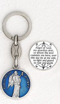 6-Pack - Guardian Angel Enamel Keyring