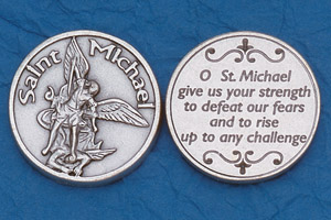 25-Pack - Religious Coin Token - St Michael the Archangel with Prayer