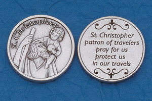 25-Pack - Religious Coin Token - St Christopher with Prayer
