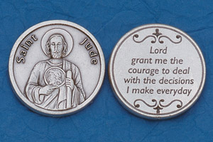 25-Pack - Religious Coin Token - St Jude with Prayer